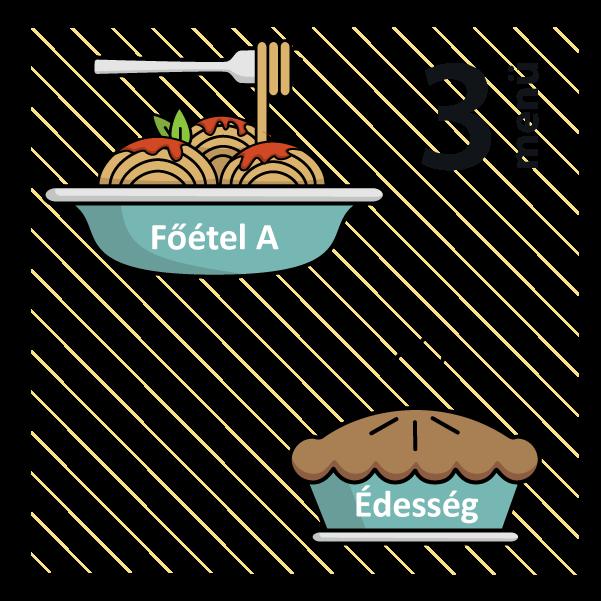 Zöldséges frittata (allergén:szója) + Meggyes piskóta