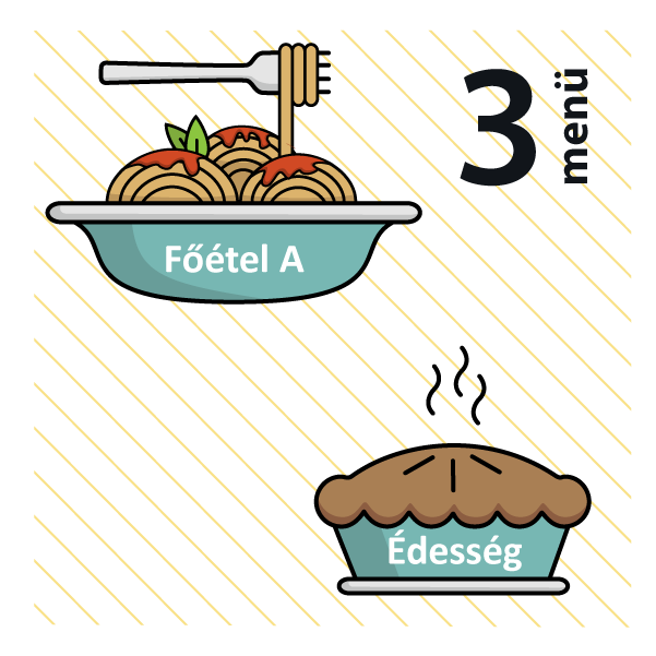 Zöldborsós gombapörkölt, spagetti + Csoki mousse