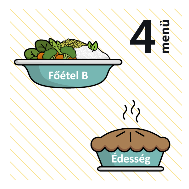 Zöldséges frittata (allergén:szója) + Bounty (allergén:diófélék)