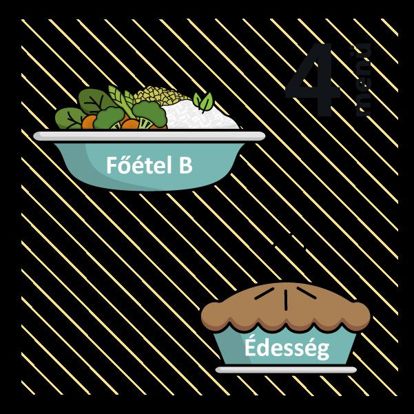 Barna rizses cukkini lasagne (allergén:szója) + Meggyes piskóta